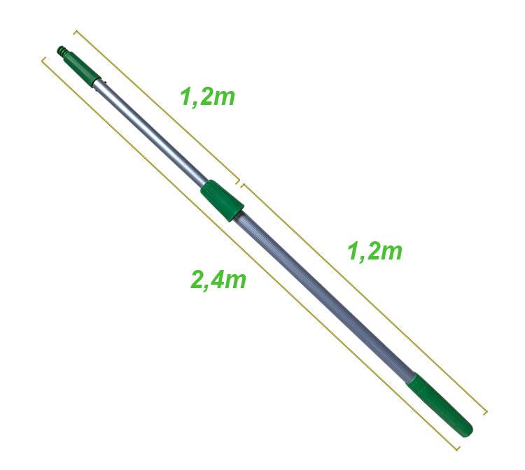 Cán nối dài màu xanh 2,4m
